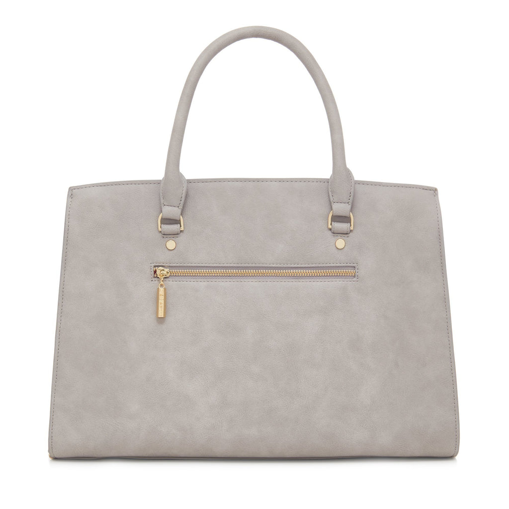 Vegan Carryall Handbag Aricia in Grey by Labante from behind