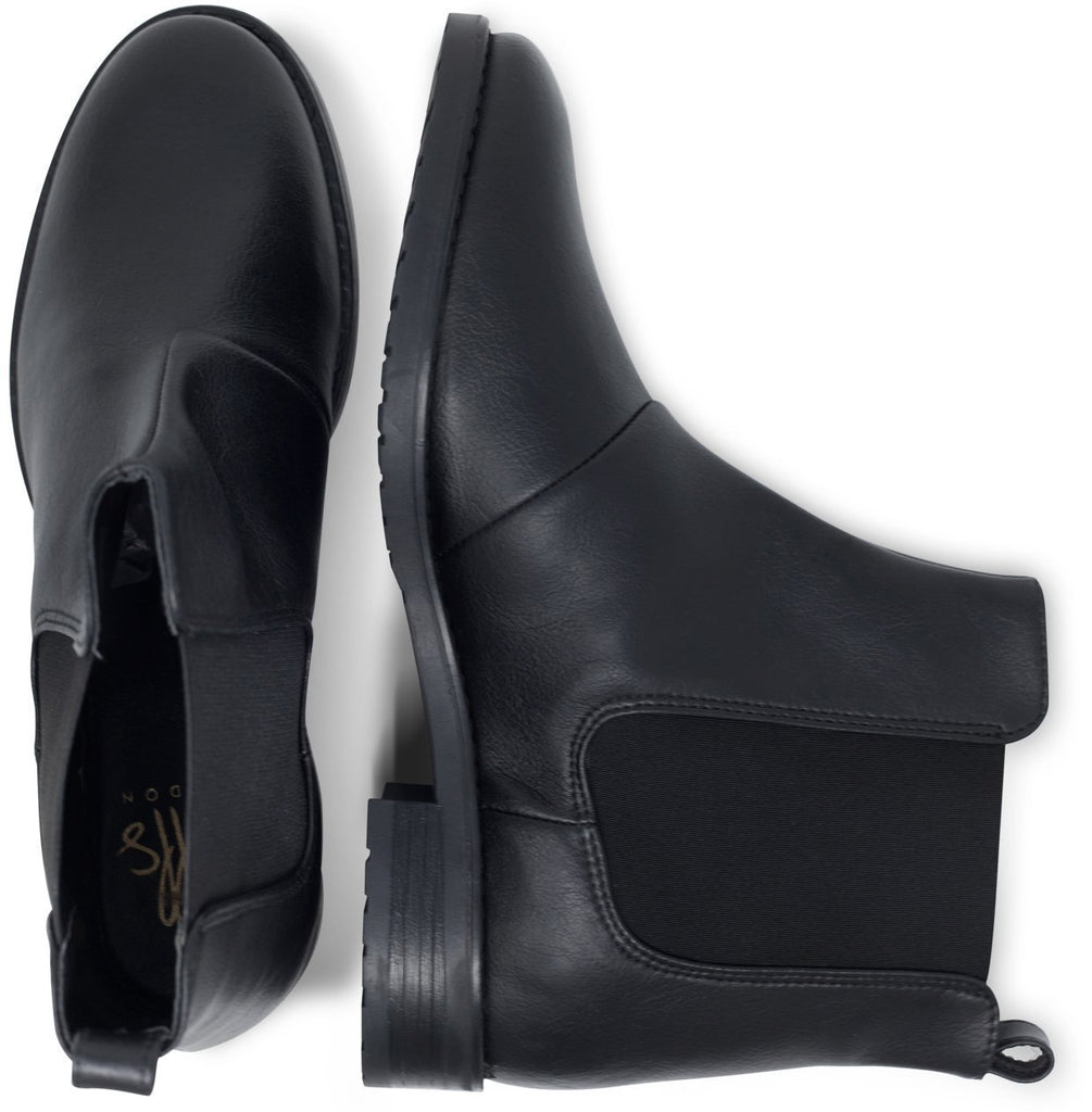 Vegan Chelsea Boots for Women from above Black by Will's Vegan Shoes ALIVE Boutique