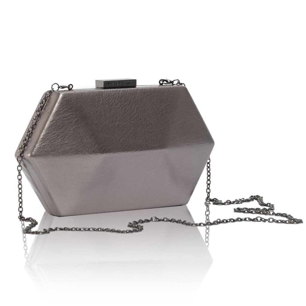 Royale Gun Vegan Clutch Bag with strap by Labante at ALIVE Boutique