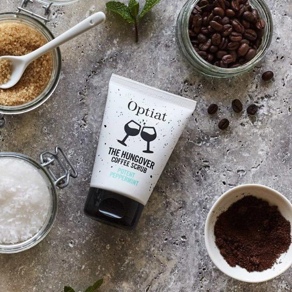 Vegan Coffee scrub 90g flat lay by Optiat ALIVE Boutique