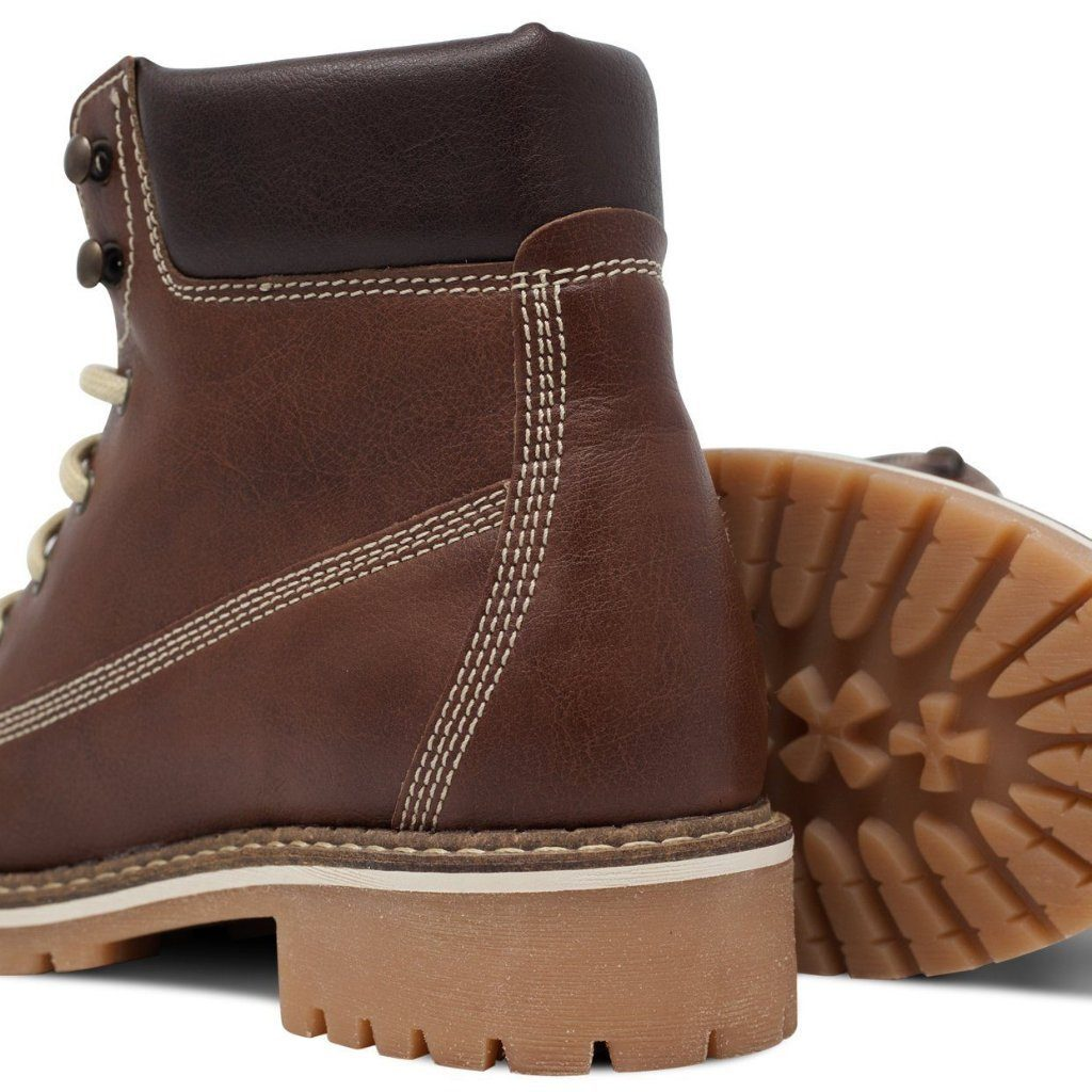 Vegan Dock Boots for Women Chestnut by Will's vegan Shoes at ALIVE Boutique