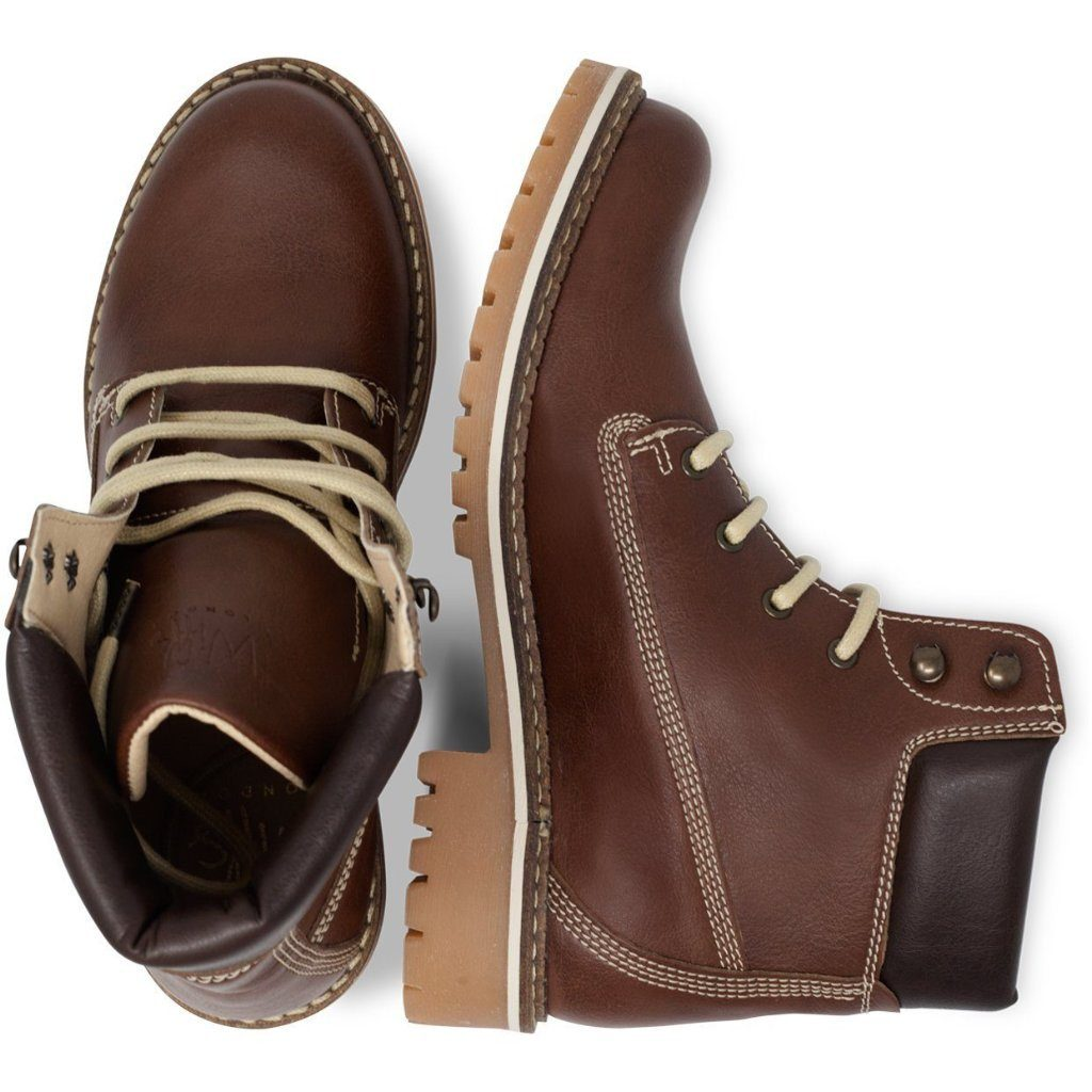 Vegan Dock Boots for Women Chestnut from above by Will's vegan Shoes at ALIVE Boutique