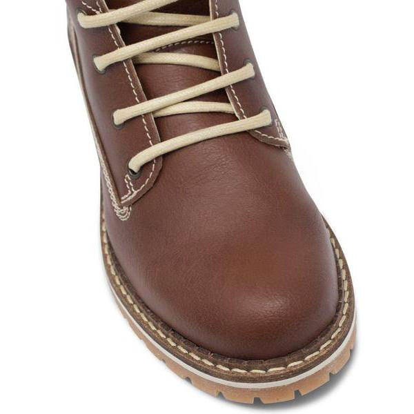 Vegan Dock Boots for Women toecap Chestnut by Will's vegan Shoes at ALIVE Boutique