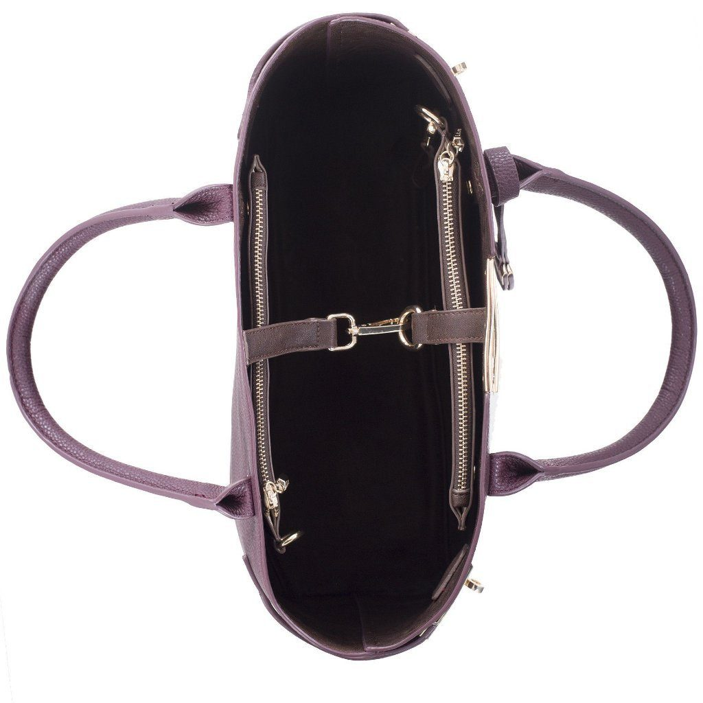 Bordeaux Windsor Vegan Handbag by Labante inside picture from above at ALIVE Boutique
