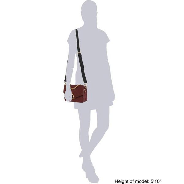 Vegan Handbag Ida in Bordeaux sizing information