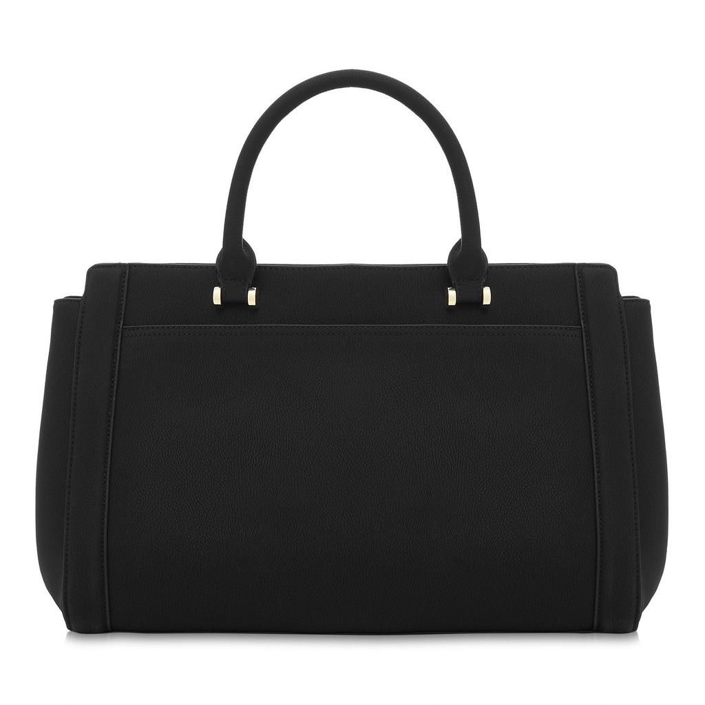 Vegan Handbag Tote Bag Dawson in Black by Labante from the back