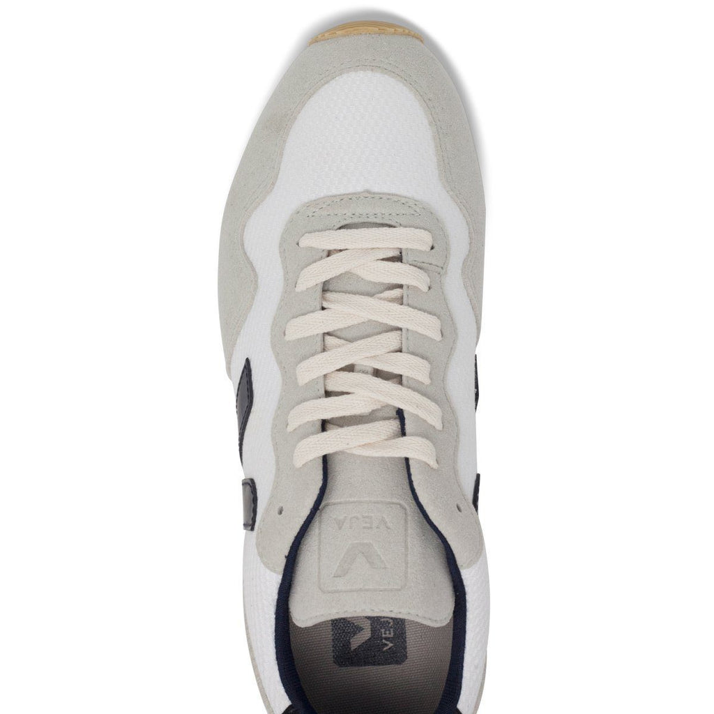 Vegan Men's Shoes in White by Veja from above at ALIVE
