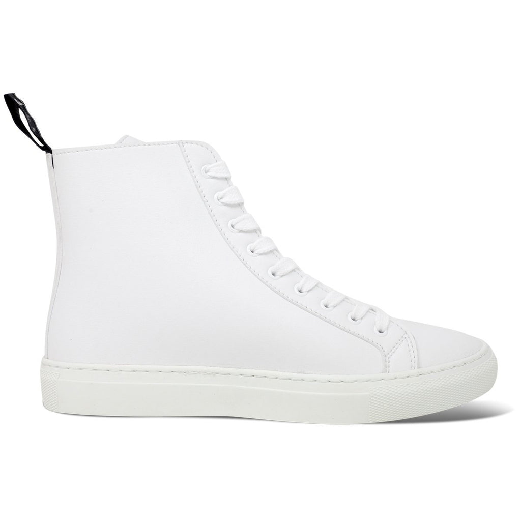 Vegan Shoes for men and women in white High-Top Sneakers at ALIVE