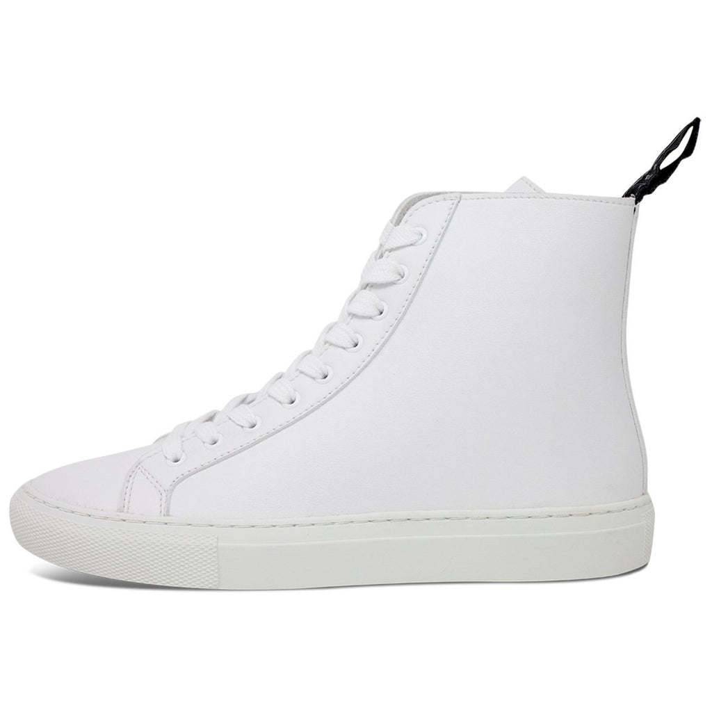 Vegan Shoes for men and women in white from the left at ALIVE