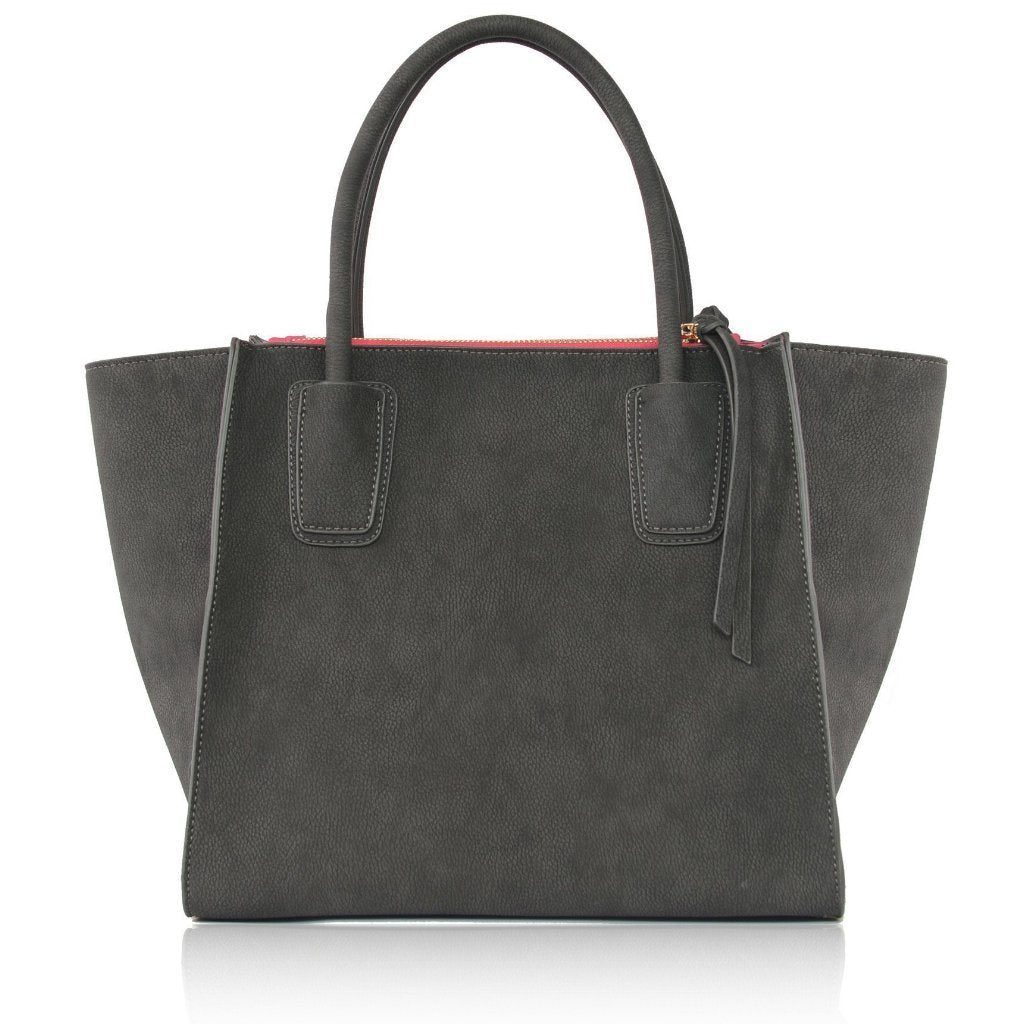Demi Grey Vegan Shoulder Bag by Labante pic from the back at ALIVE Boutique