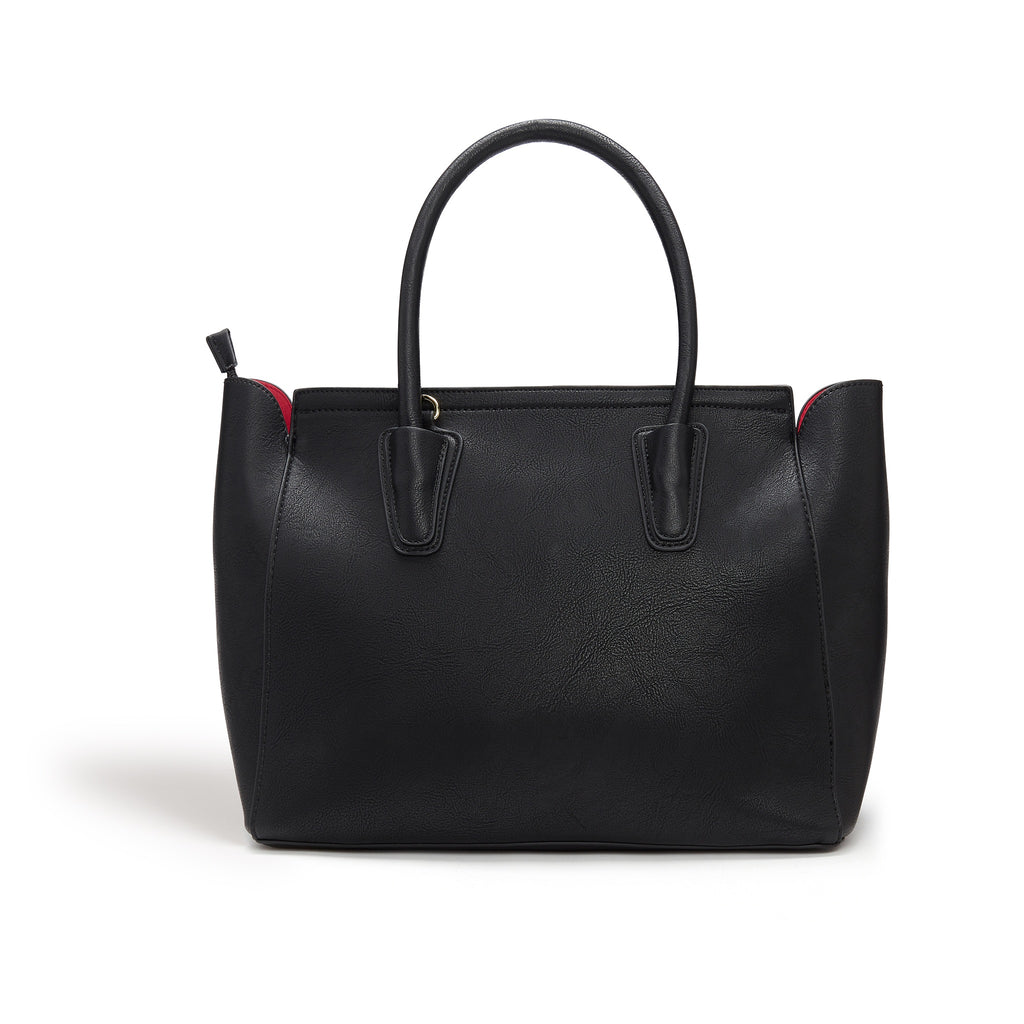 Vegan Tote Bag in Black Grant by Labante at ALIVE from the back