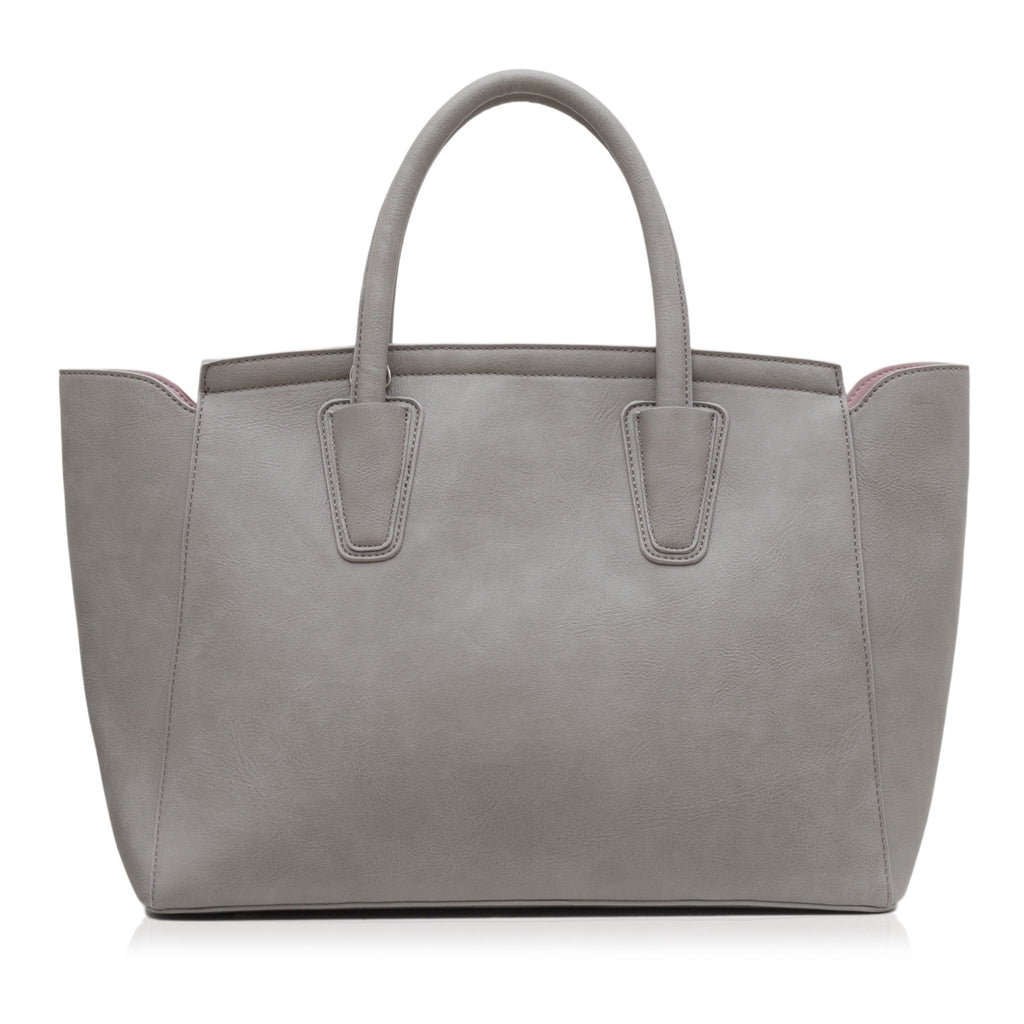 Vegan Tote Bag in Grey Grant by Labante London from the back