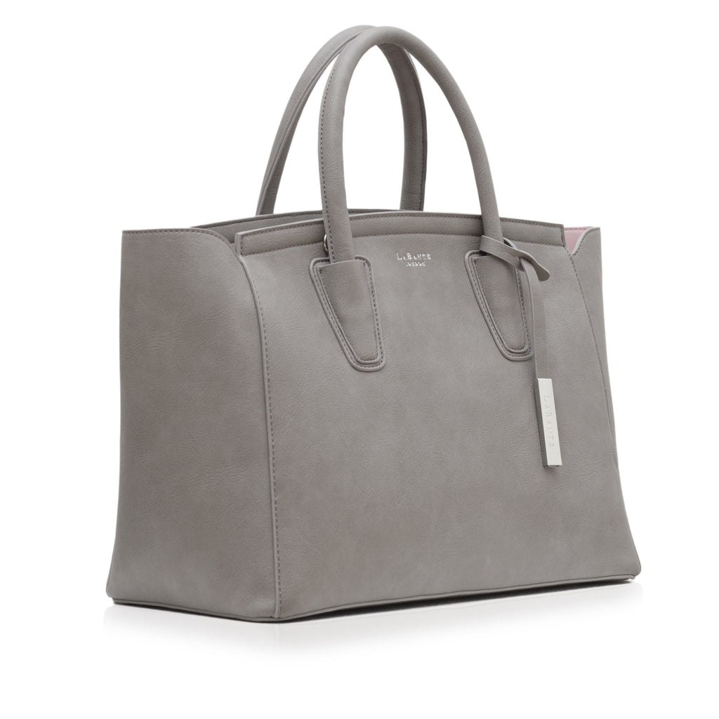 Vegan Tote Bag in Grey Grant by Labante from the side