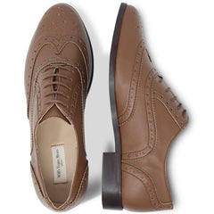 Vegan brogues womens in Tan picture from above by Will's Vegan Shoes at ALIVE