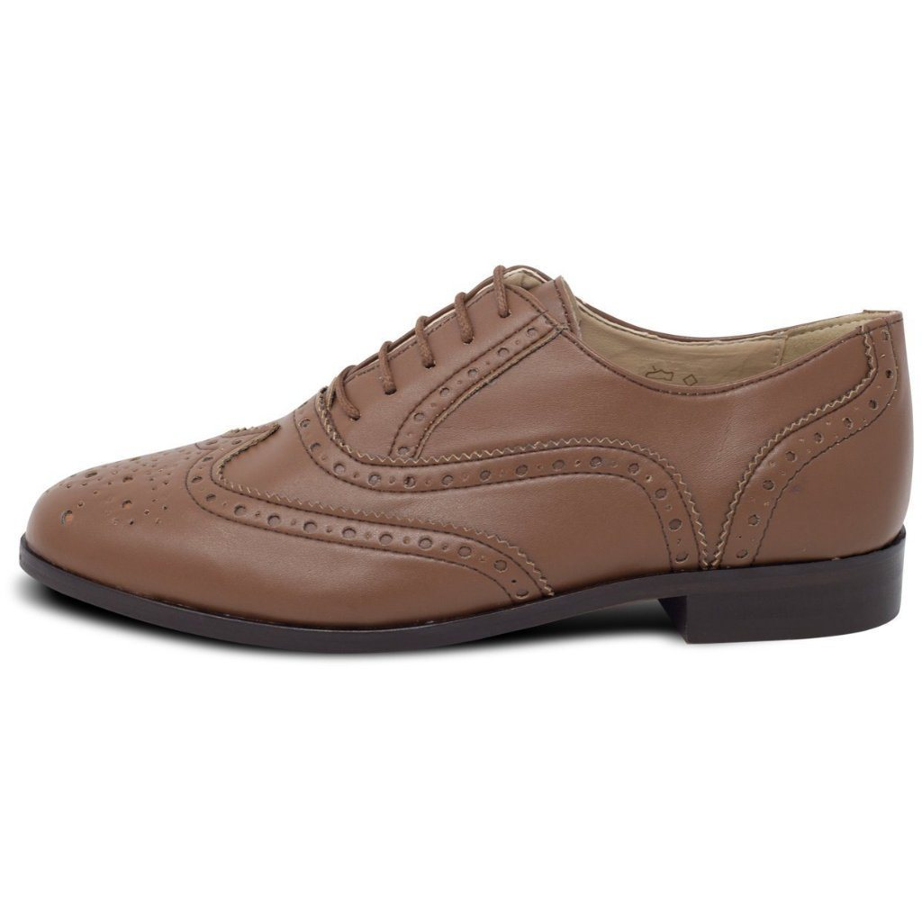 Vegan brogues womens in Tan by Will's Vegan Shoes at ALIVE Boutique