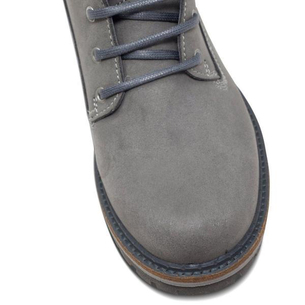 Vegan dock boots toecap for women Grey at ALIVE Boutique