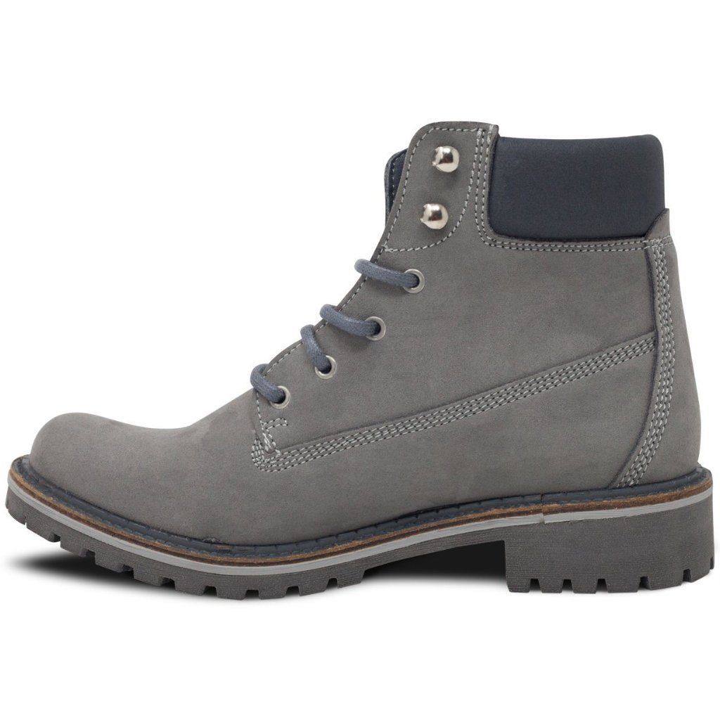 Vegan dock boots from the left for women Grey at ALIVE Boutique