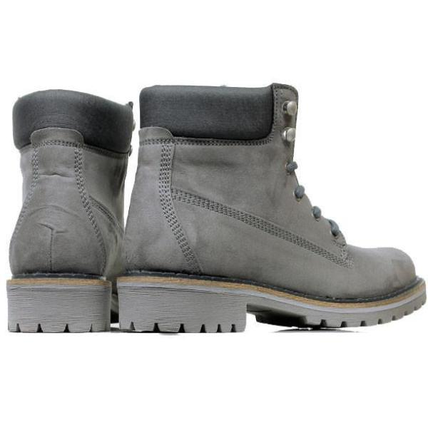 Vegan dock boots for women from the back Grey at ALIVE Boutique