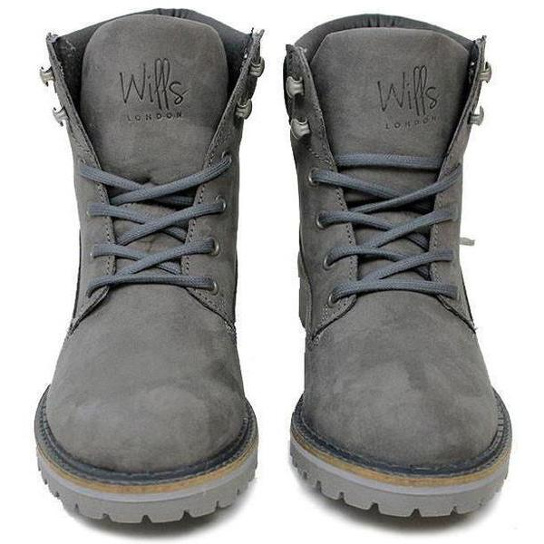 Vegan dock boots for women from the front Grey at ALIVE Boutique