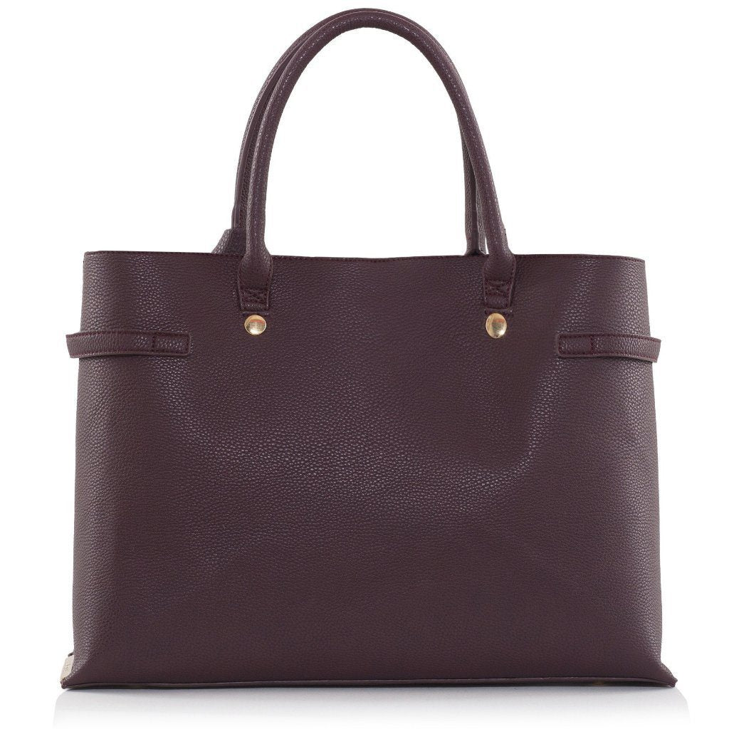 Bordeaux Windsor Vegan Handbag by Labante picture from the back at ALIVE Boutique