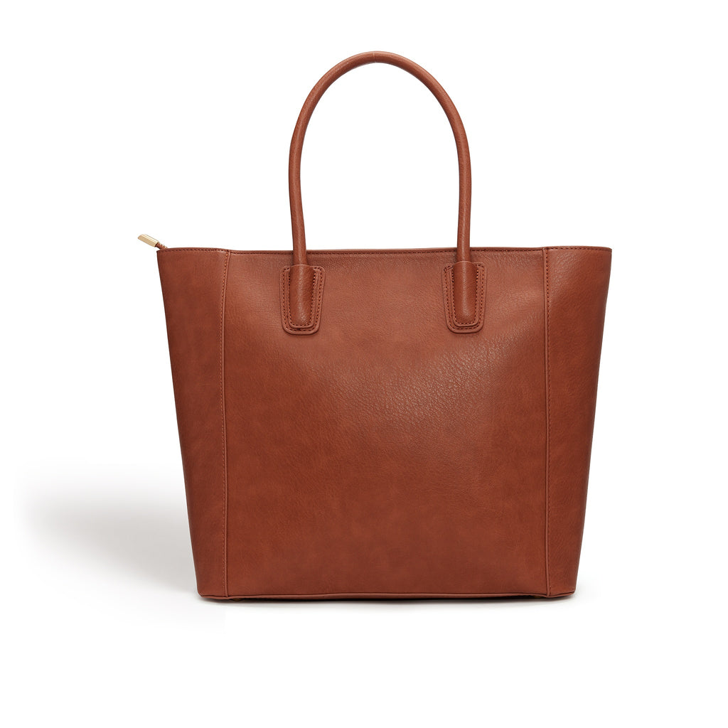 Vegan handbag Eufala in Brown by Labante from behind