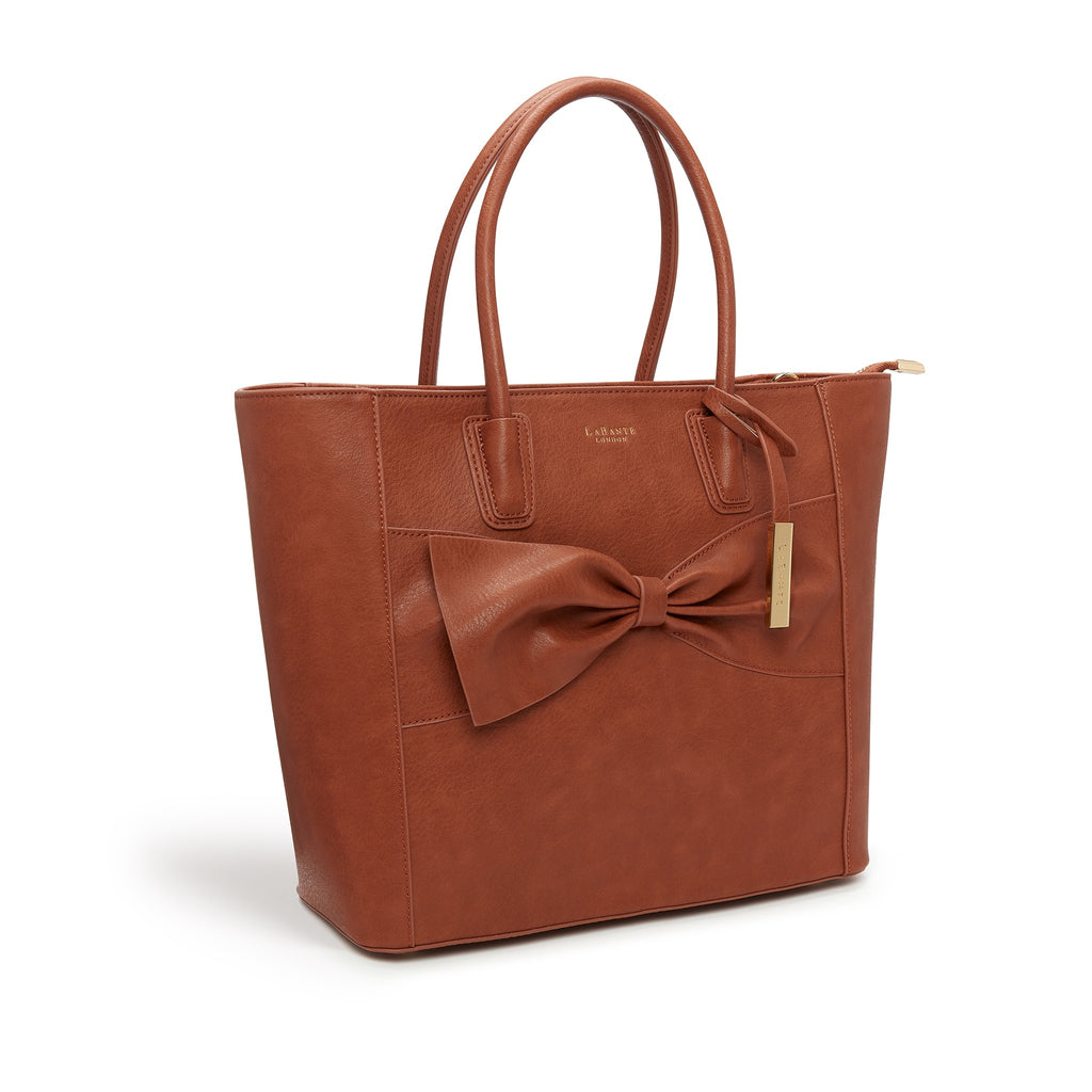 Vegan handbag Eufala in Brown by Labante from the side