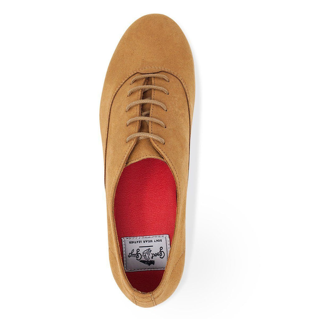 Vegan shoes in Mustard from above, available for men and women at ALIVE
