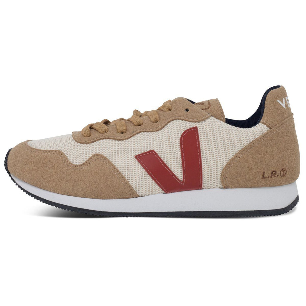 Vegan sneakers in beige by Veja from the left at ALIVE Boutique