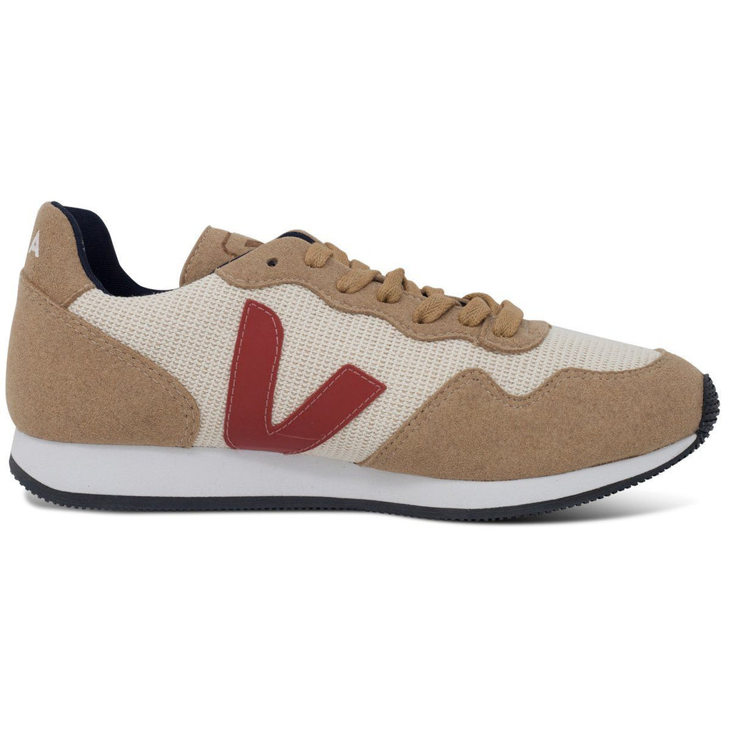 Vegan sneakers in beige by Veja from the right at ALIVE Boutique