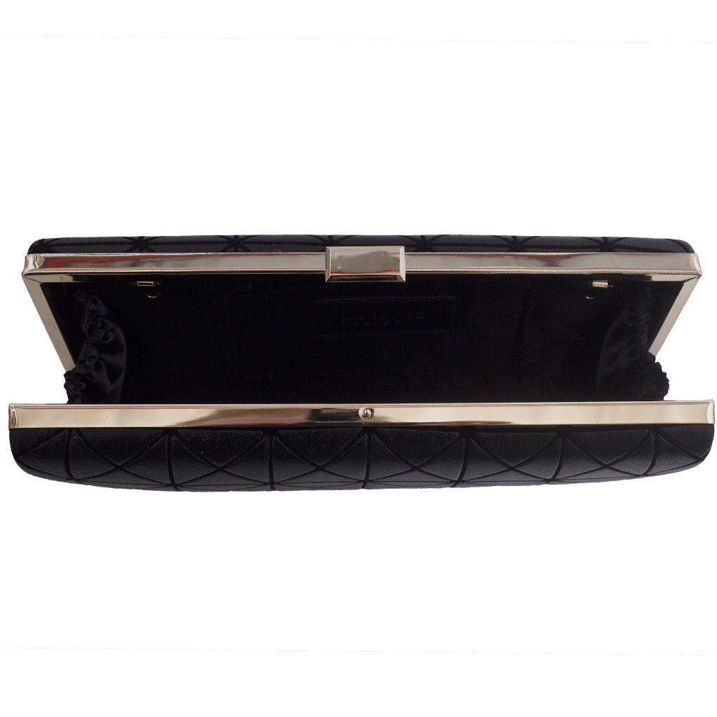 Black Vegan Clutch Joel by Labante London open at ALIVE Boutique