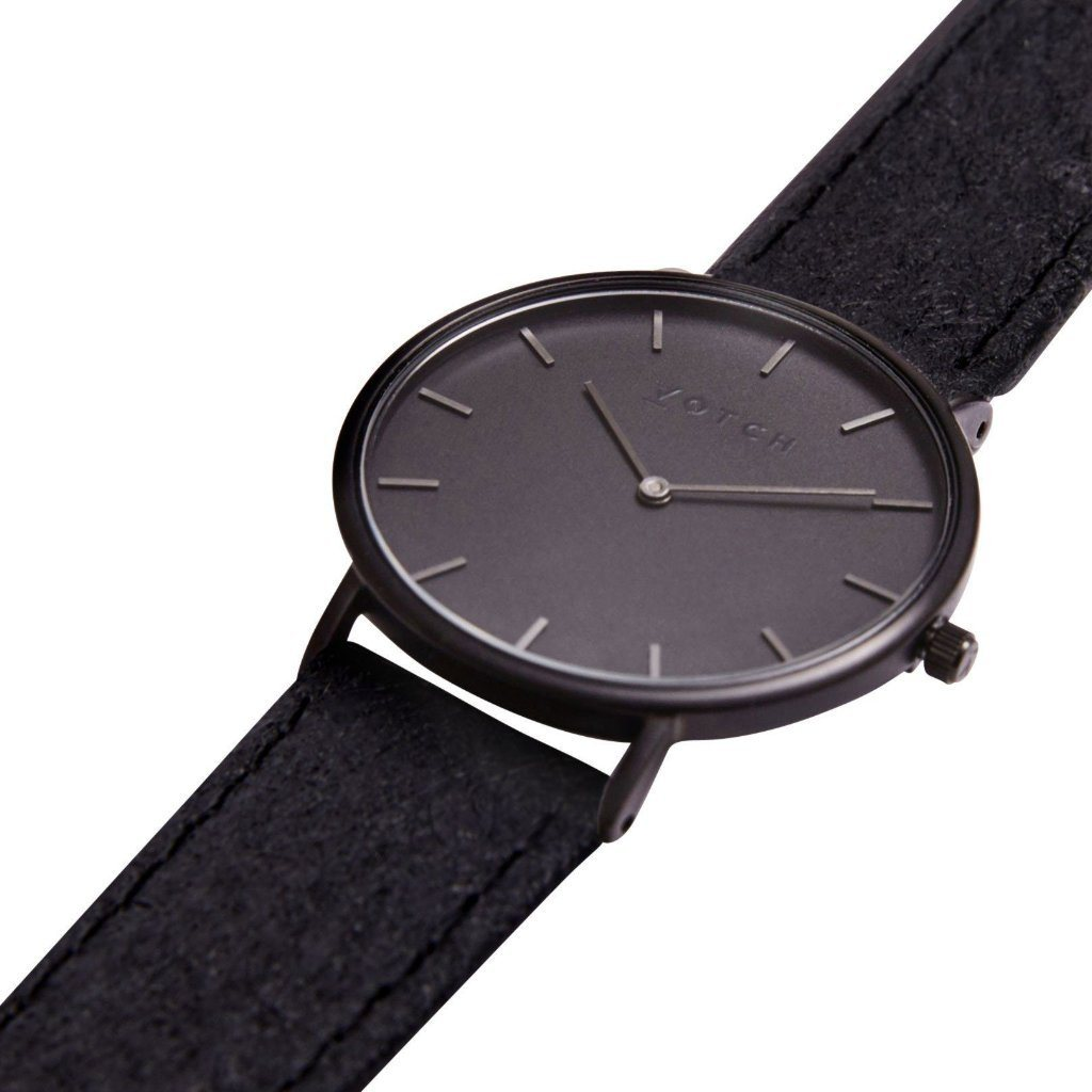 Votch Black Face vegan leather watch Piñatex Strap Classic Collection ALIVE Boutique