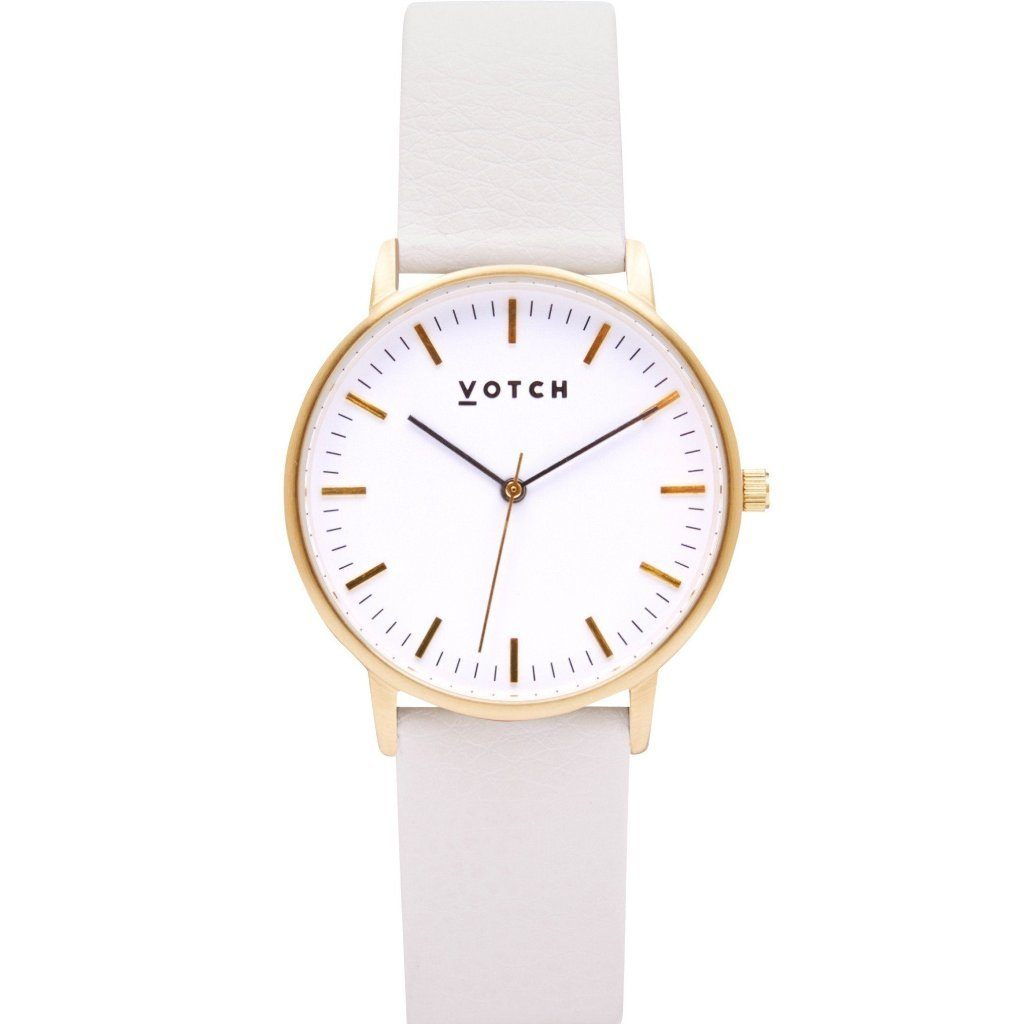 Votch Gold Face Watch, with Off White Strap, New Collection | ALIVE Boutique