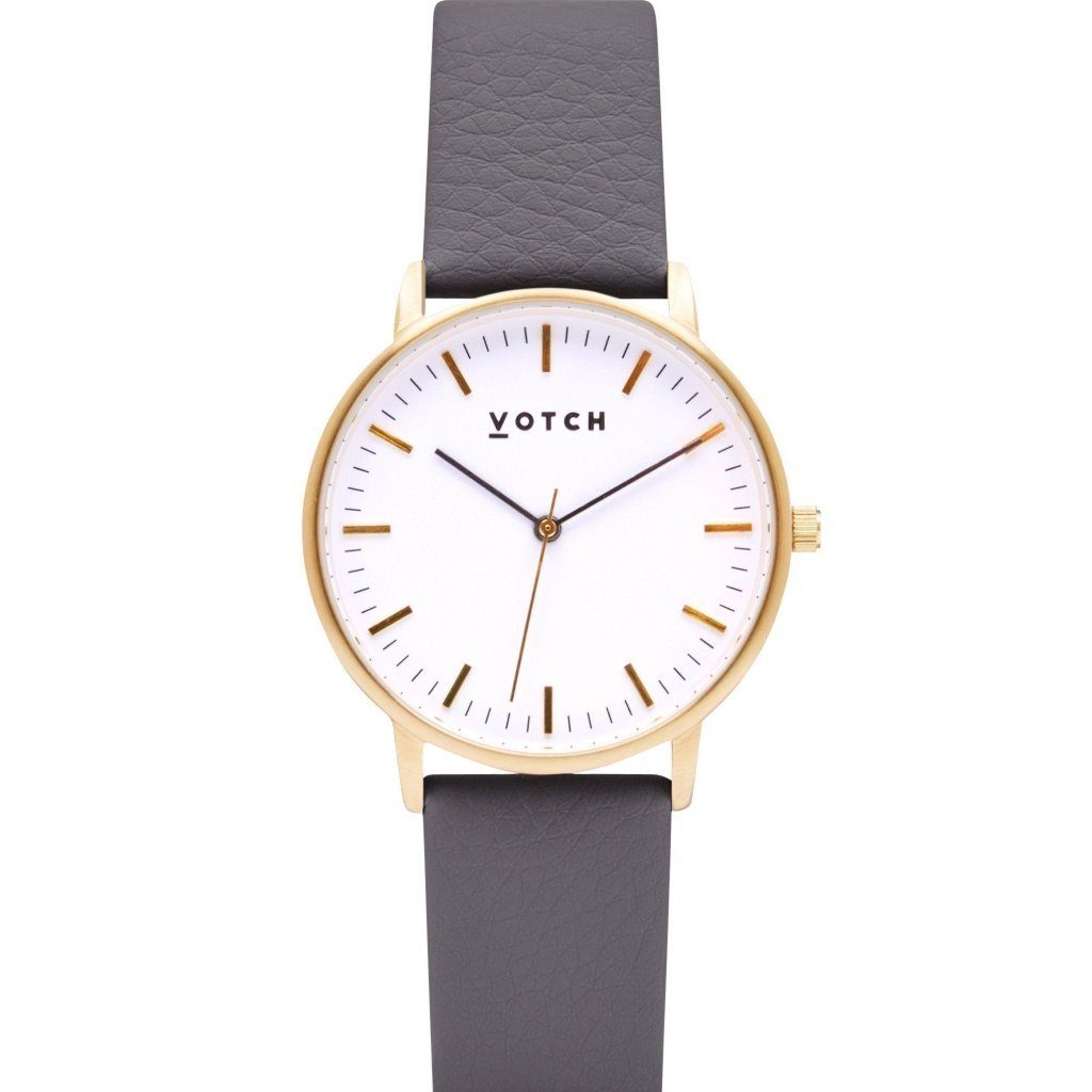 Votch Gold Face Watch, with Slate Grey Strap, New Collection | ALIVE Boutique