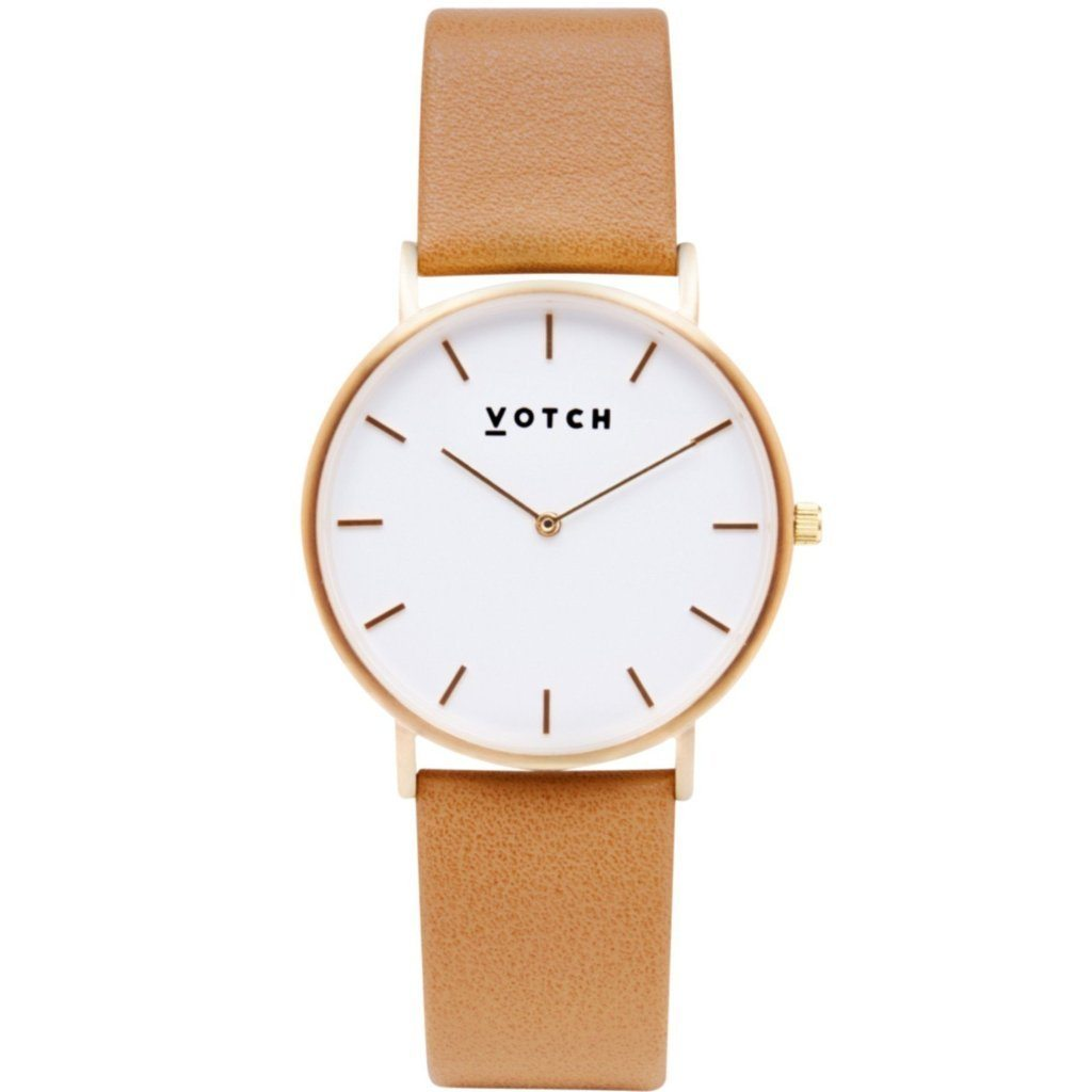 Votch, Vegan Leather Watch, The Tan | ALIVE Boutique