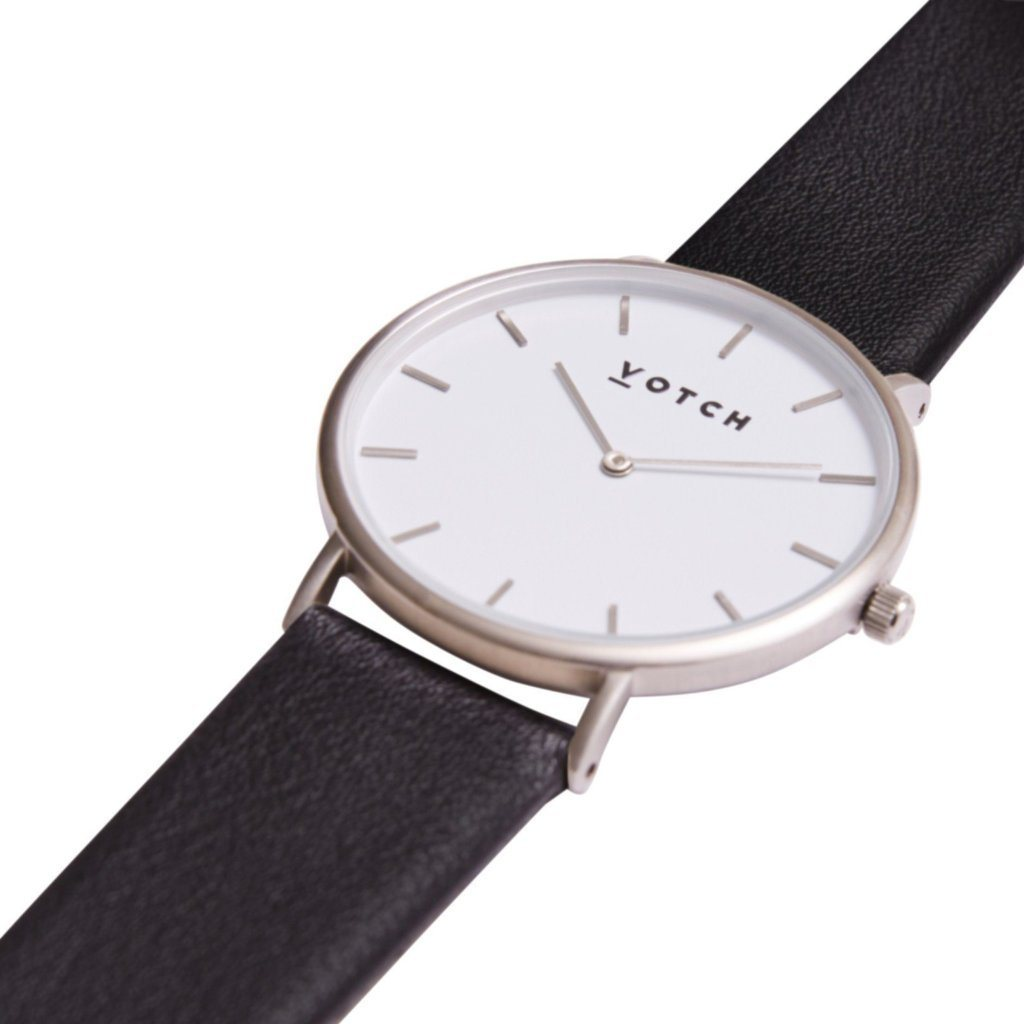 Votch Vegan Watch, The Black and Silver | ALIVE Boutique