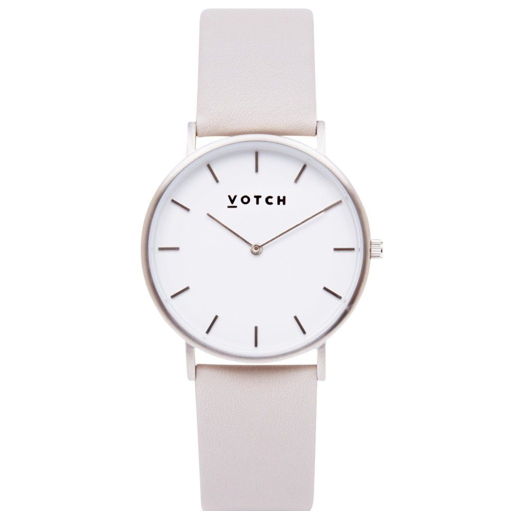 Votch Vegan watch The Light Grey, Silver face vegan watch at ALIVE Boutique