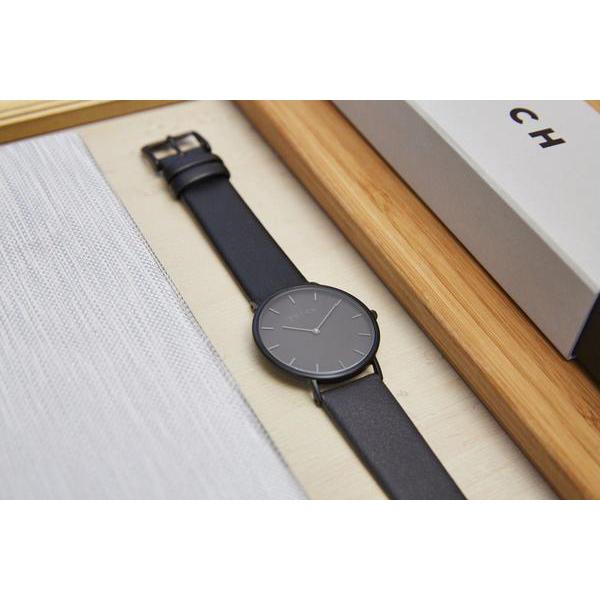 Votch vegan Leather watch THE DARK GREY ALIVE Boutique