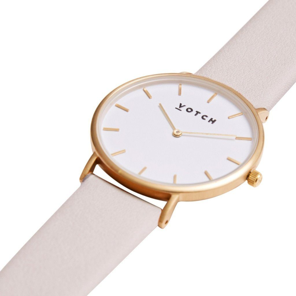 Votch vegan leather watch Light Grey & Gold Watch Limited Edition at ALIVE Boutique