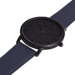 Votch vegan watch All Black Face with Navy Strap New Collection ALIVE Boutique