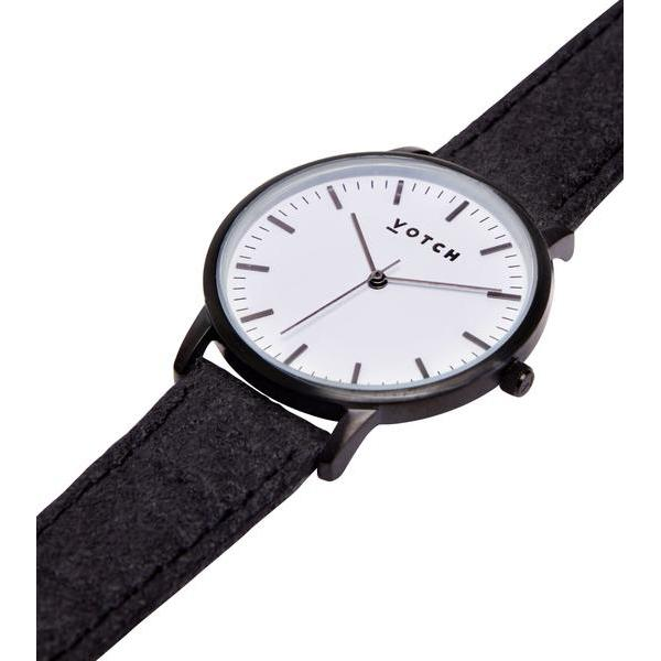 Votch vegan watch Black and White Face Piñatex Strap ALIVE Boutique