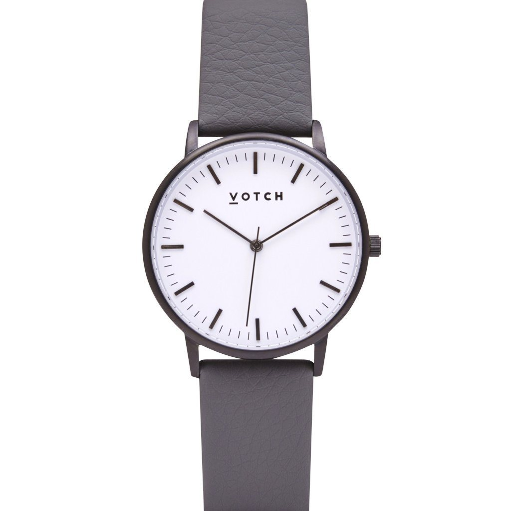 Votch vegan watch Black and White Face, Slate Grey Strap, New Collection | ALIVE Boutique