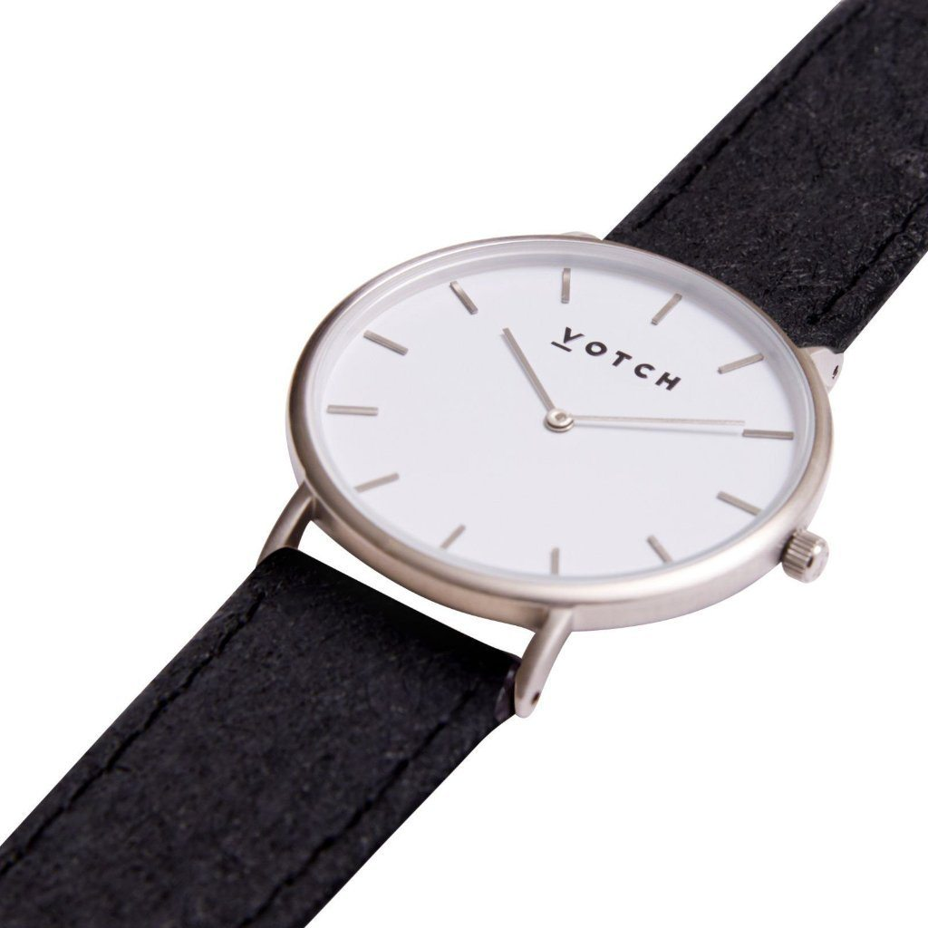 Votch vegan watch Silver Face Piñatex Strap Classic Collection ALIVE Boutique