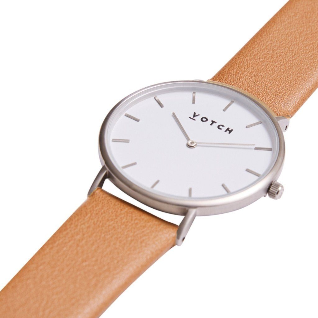 Votch vegan watch The Tan & Silver, Limited Edition at ALIVE Boutique