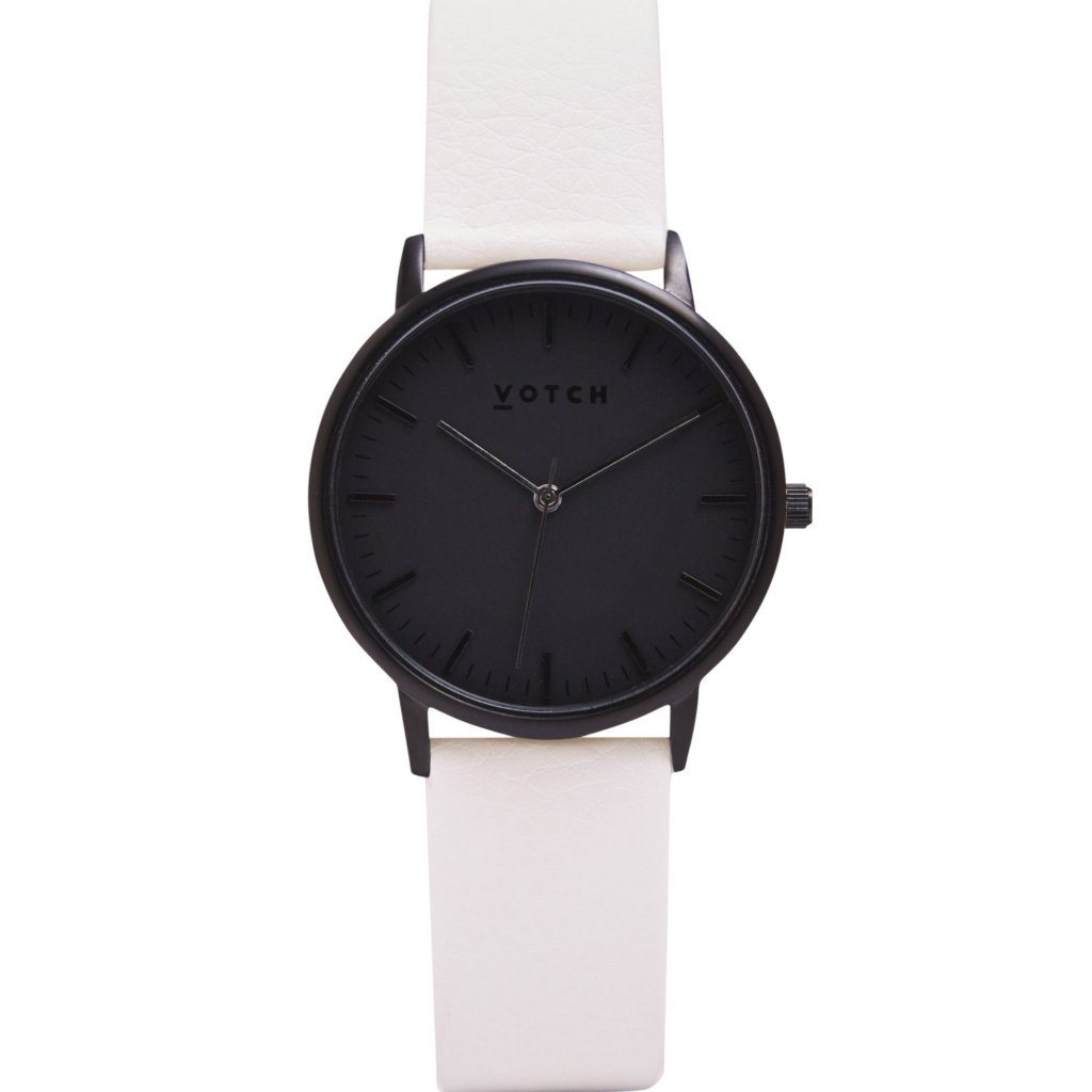 Votch watch All Black Face with Off White Strap New Collection ALIVE Boutique