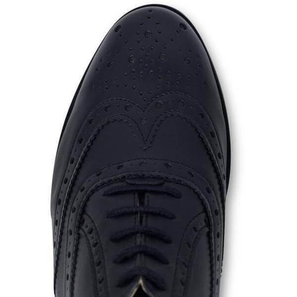 Women's Oxford Brogues black vegan shoes from above
