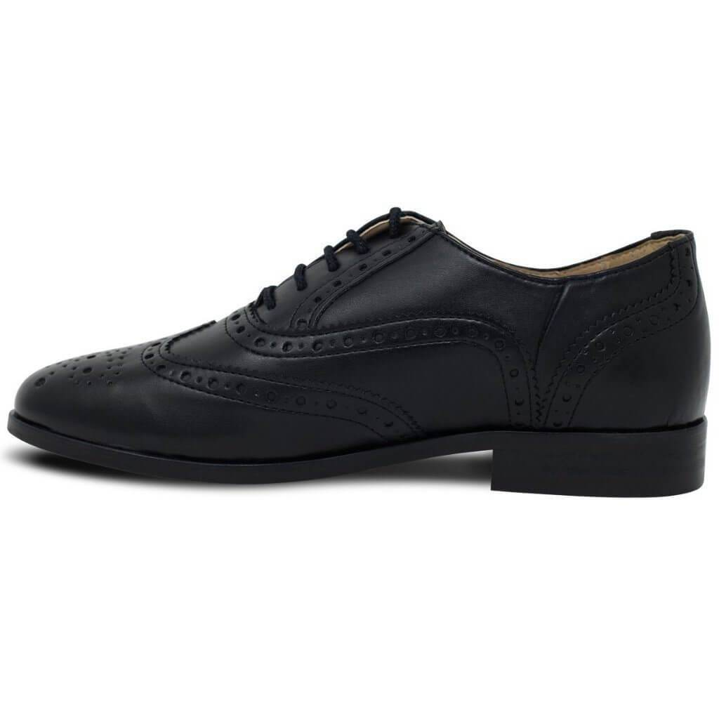 Women's Oxford Brogues black vegan shoes