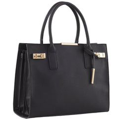 black vegan leather handbag Carlisle by Labante at ALIVE Boutique