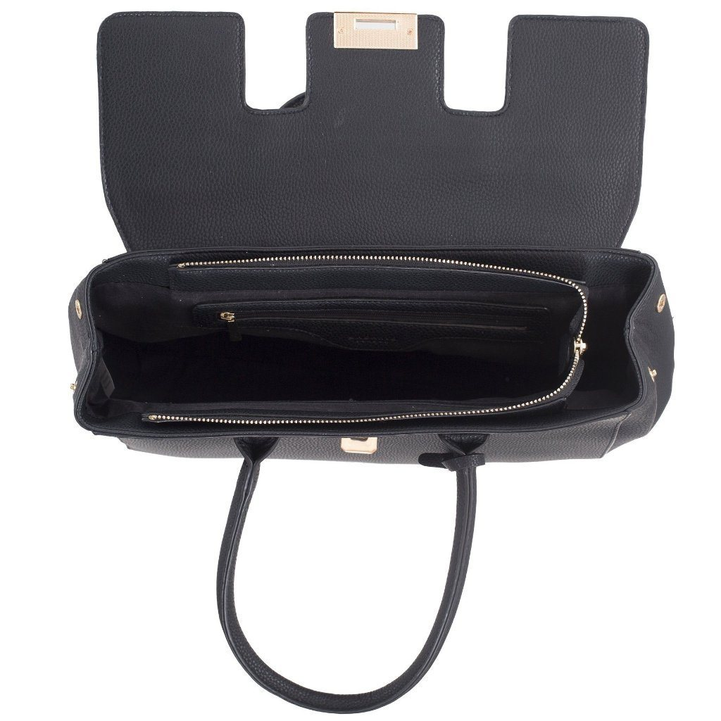 black vegan leather shoulder bag cypress top - ALIVE Boutique A Little Vegan Boutique