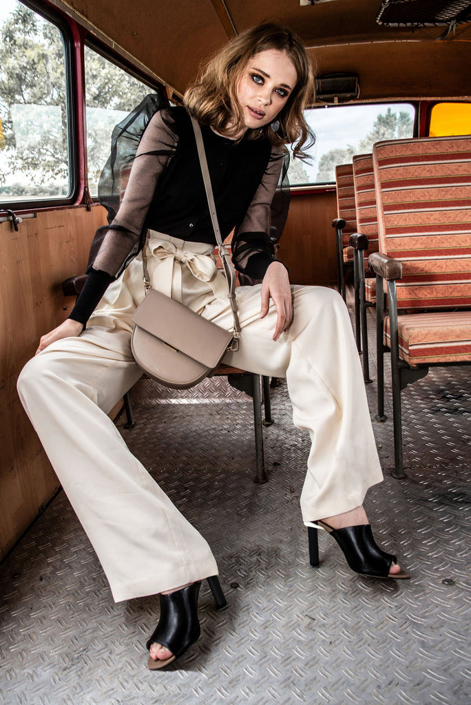 Vegan Across Body Handbag - Brooke in a bus