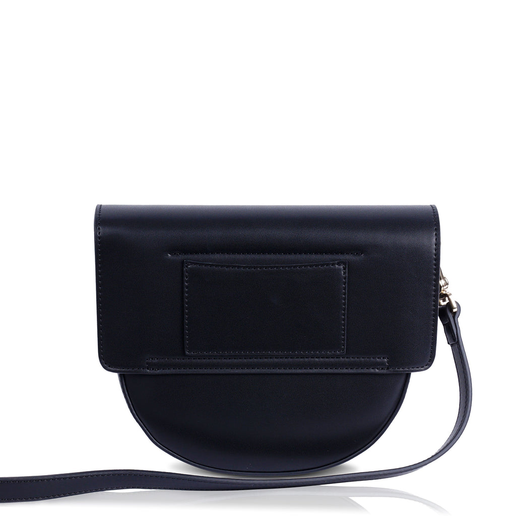 Black Vegan Across Body Handbag - Brooke from behind